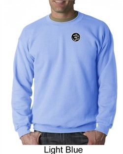 Mens Yoga Sweatshirt ? Aum Patch Sanskrit Pocket Print Sweat Shirt