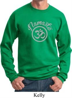 Mens Yoga Sweatshirt Namaste Om Sweat Shirt
