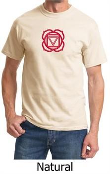 Mens Yoga T-shirt ? Muladhara Root Chakra Adult Tee Shirt