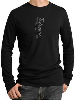 Mens Yoga T-shirt Tadasana Mountain Pose Thermal Shirt