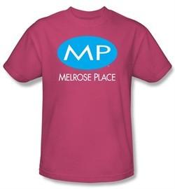 Melrose Place Kids Shirt MP Logo Youth Hot Pink T-Shirt