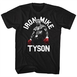 Mike Tyson Shirt Red Iron Black T-Shirt