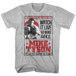 Mike Tyson Shirt Watch It Live Athletic Heather T-Shirt