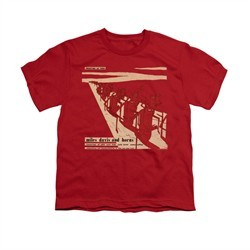 Miles Davis Shirt Kids Davis And Horns Red T-Shirt