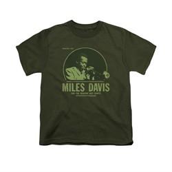 Miles Davis Shirt Kids Green Miles Olive T-Shirt