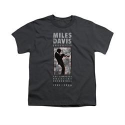 Miles Davis Shirt Kids Silhouette Charcoal T-Shirt