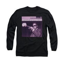 Miles Davis Shirt Prestige Profiles Long Sleeve Black Tee T-Shirt