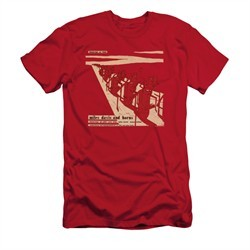 Miles Davis Shirt Slim Fit Davis And Horns Red T-Shirt