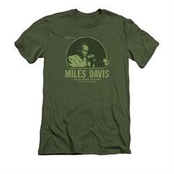 Miles Davis Shirt Slim Fit Green Miles Olive T-Shirt