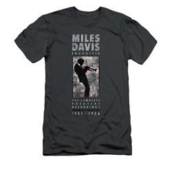 Miles Davis Shirt Slim Fit Silhouette Charcoal T-Shirt