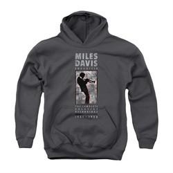 Miles Davis Youth Hoodie Silhouette Charcoal Kids Hoody