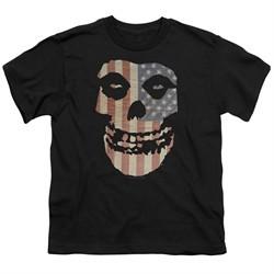 Misfits Kids Shirt Fiend Flag 2 Black T-Shirt