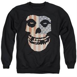 Misfits Sweatshirt Fiend Flag 2 Adult Black Sweat Shirt