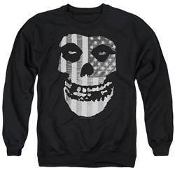 Misfits Sweatshirt Fiend Flag Adult Black Sweat Shirt