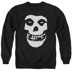 Misfits Sweatshirt Fiend Skull Adult Black Sweat Shirt
