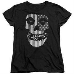Misfits Womens Shirt Fiend Flag Black T-Shirt