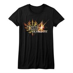 Monster Hunter 4 Shirt Juniors Ultimate Logo Black T-Shirt