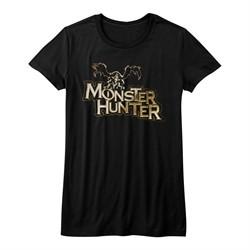 Monster Hunter Shirt Juniors Logo Black T-Shirt