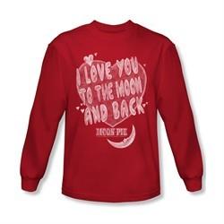 Moon Pie Shirt I Love You Long Sleeve Red Tee T-Shirt