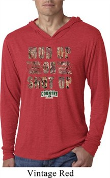 Mossy Oak Mud Up or Shut Up Lightweight Hoodie Shirt