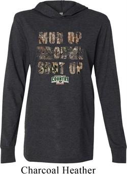 Mossy Oak Mud Up or Shut Up Lightweight Hoodie Tee