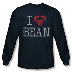 Mr. Bean Shirt I Heart Mr Bean Long Sleeve Navy Tee T-Shirt