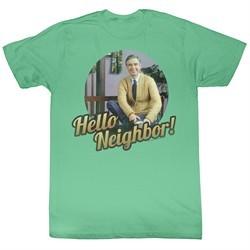 Mr. Mister Rogers Shirt Hello Neighbor! Heather Green T-Shirt