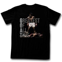 Muhammad Ali Shirt Greatest Of All Time Black T-Shirt