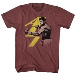Muhammad Ali Shirt Punch Heather Maroon T-Shirt