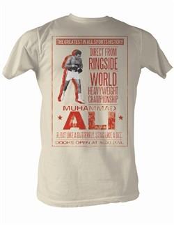 Muhammad Ali T-shirt Ali Poster Dirty White Tee Shirt