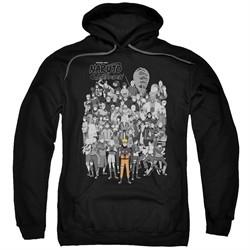 Naruto Shippuden Hoodie Characters Black Sweatshirt Hoody