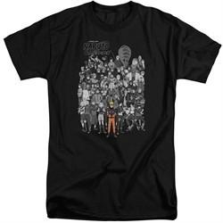 Naruto Shippuden Shirt Characters Black Tall T-Shirt