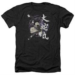 Naruto Shippuden Shirt Leaves Headband Heather Black T-Shirt