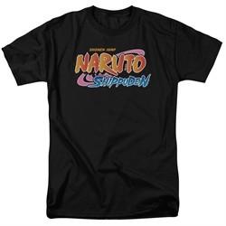 Naruto Shippuden Shirt Logo Black T-Shirt
