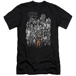 Naruto Shippuden Slim Fit Shirt Characters Black T-Shirt