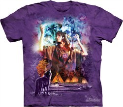 Native American Shirt Tie Dye Spirit Maiden T-shirt Adult Tee