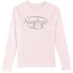 Ladies Yoga T-shirt ? Namaste Meditation Long Sleeve Shirt