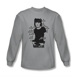 NCIS Shirt Abby Crosses Long Sleeve Silver Tee T-Shirt