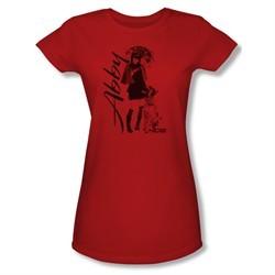 NCIS Shirt Juniors Abby and K9 Red T-Shirt