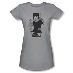 NCIS Shirt Juniors Abby Crosses Silver T-Shirt