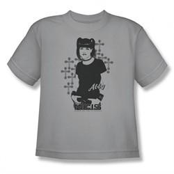 NCIS Shirt Kids Abby Crosses Silver T-Shirt