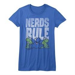 Nerds Candy Shirt Juniors Nerds Rule Heather Blue T-Shirt