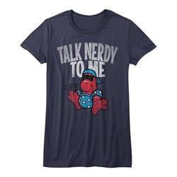 Nerds Candy Shirt Juniors Talk Nerdy To Me Navy Blue T-Shirt