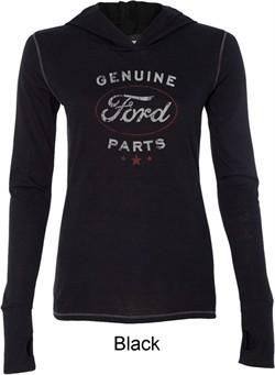 New Genuine Ford Parts Ladies Tri Blend Hoodie Shirt