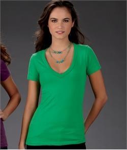 Next Level Ladies T-Shirt Cotton/Poly CVC Deep V-neck Tee Shirt