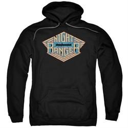Night Ranger Hoodie Logo Black Sweatshirt Hoody