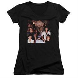Night Ranger Juniors V Neck Shirt Midnight Madness Black T-Shirt