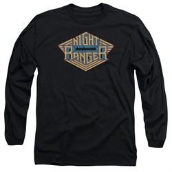 Night Ranger Long Sleeve Shirt Logo Black Tee T-Shirt