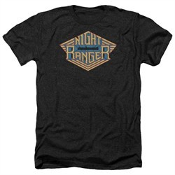 Night Ranger Shirt Logo Heather Black T-Shirt