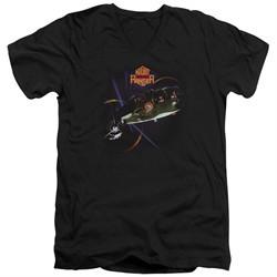 Night Ranger Slim Fit V-Neck Shirt 7 Wishes Black T-Shirt